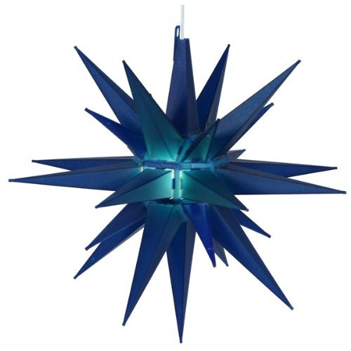 14″ Lighted Blue Moravian Star Hanging Christmas Party Light