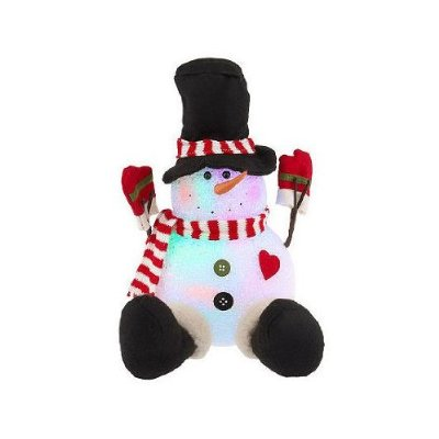 Battery Operated LED Lighted 12″ Mr. Frosty Color Changing Snowman