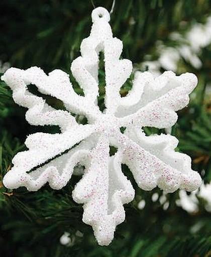 White Glitter Snowflake