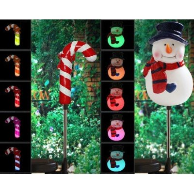 Solar Power Yard Stake ,Candy Cane&X'mas Tree
