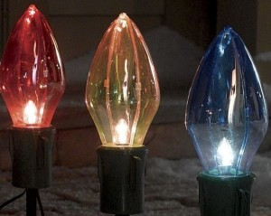Christmas Outdoor Decor 8-piece Big Bulb Christmas Light Set