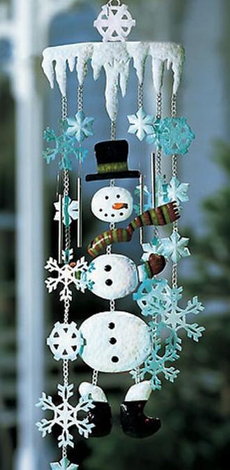 Snowman Wind Chimes Christmas