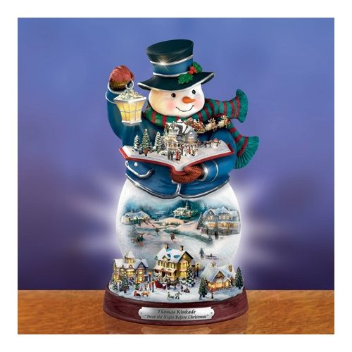Thomas Kinkade Storybook Fiber Optic Snowman