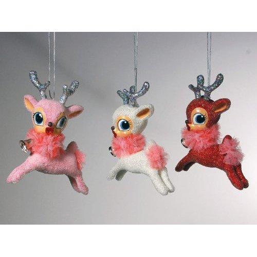 Kissing Chrismas Reindeer Ornaments