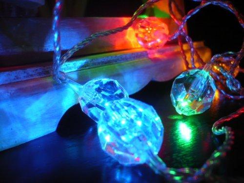 Crystal Clear Multi-color LED String Lights