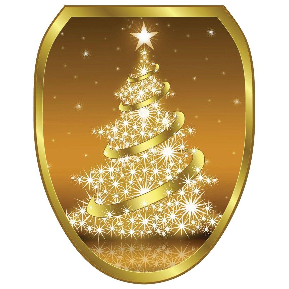 Toilet Tattoos Gold Christmas Tree
