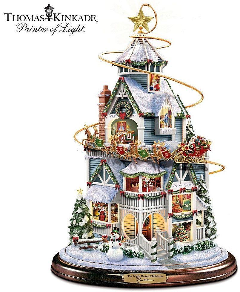 Thomas Kinkade The Night Before Christmas Tabletop Centerpiece