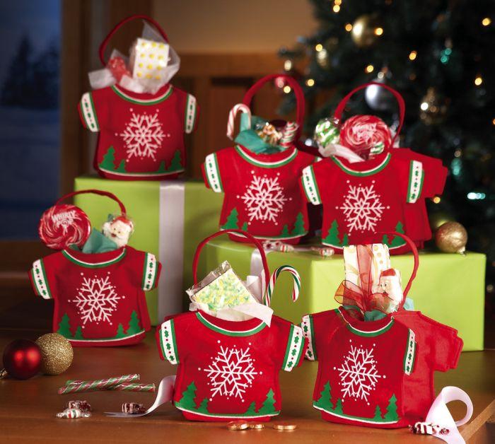 Snowman Sweater Felt Gift & Treat Bags