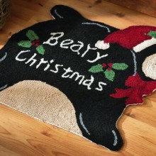 Christmas Santa Bear Accent Rug