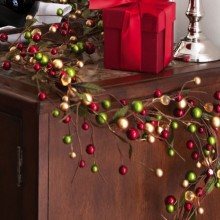 Festive Christmas Holiday Colored Berry Garland