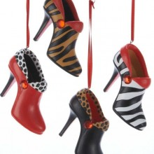 Resin Jungle Short Boot Ornament Set of 4