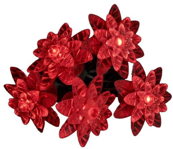 Kurt Adler 25-Light LED Red Petal Reflector Light Set