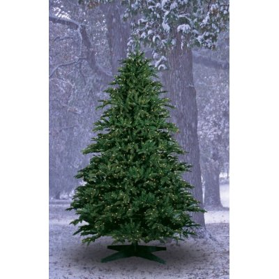 10-Foot Alaskan Deluxe Fir PE/PVC Ready-Trim Christmas Tree