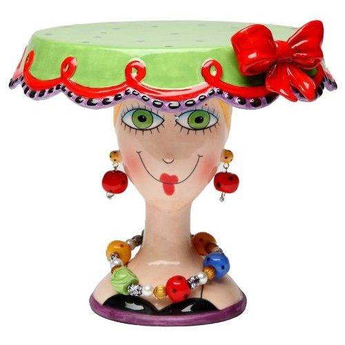 Babs Ceramic Cake Stand Christmas