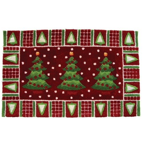 Trees In Snow Novelty Rectangular Rug