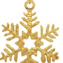 14kt Yellow Gold Snow Flake Pendant