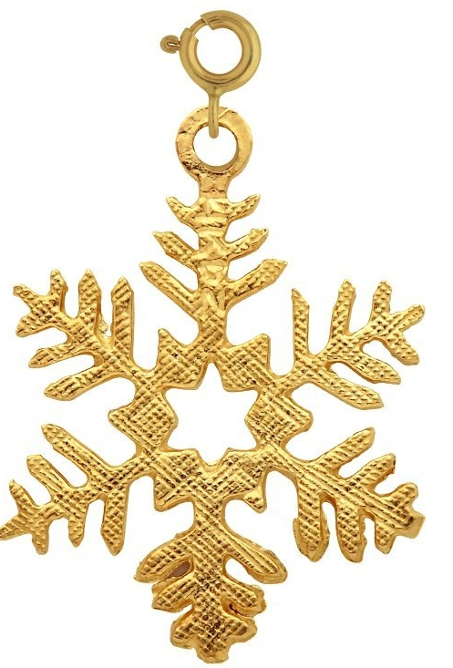 14kt Yellow Gold Snow Flake Pendant