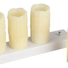 Glow 4 Piece Plastic Set Flameless LED Tea light
