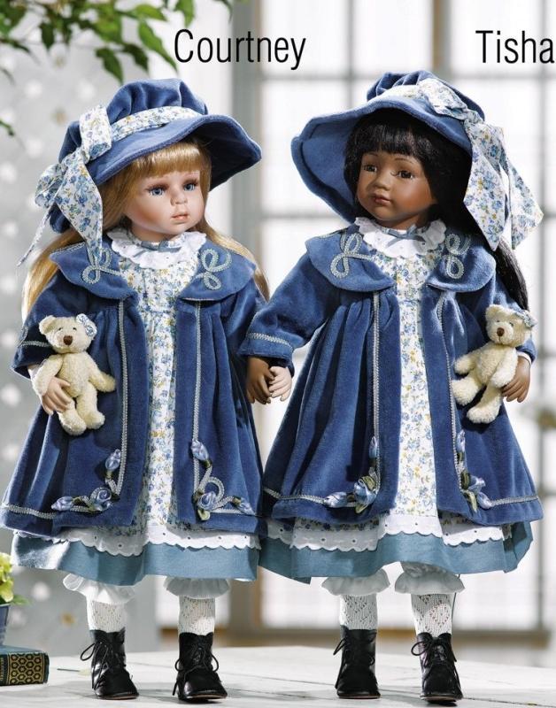Porcelain Doll With Teddy Bears Tisha