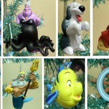 Disney Little Mermaid Set of 8 Holiday Christmas Tree Ornaments