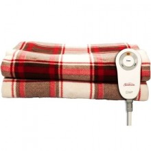 Heated Red Plaid Throw Blanket Warm Electric