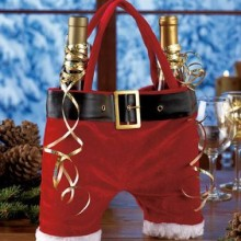 Santa Pants Double Wine Tote