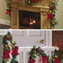 Jingle Bells Holiday Lighted Christmas Garland