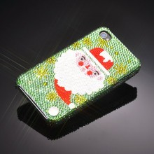 Santa Swarovski Crystal iPhone 4 and 4S Case