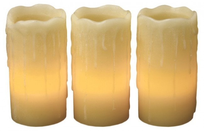 Glow Flameless Wax Candles with Drip Effect