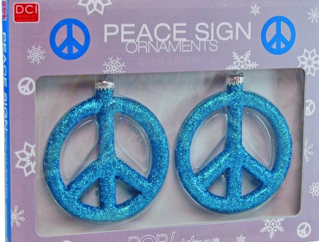 Christmas Large Peace Sign Ornaments