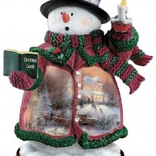 Holiday Lights Snowman Figurine