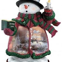 Holiday Lights Snowman Figurine