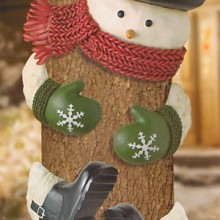 Road Winter Wonder Snowman with Top Hat Outdoor Tree Hugger