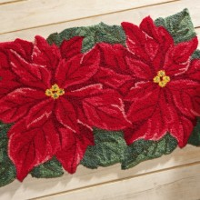 Poinsettia Holiday Accent Rug
