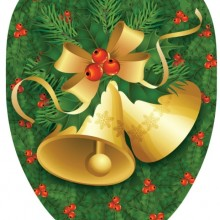 Christmas Bells Decorative Applique For Toilet Lid,