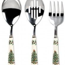 Spode Christmas Tree 3-Piece Flatware Serving Set