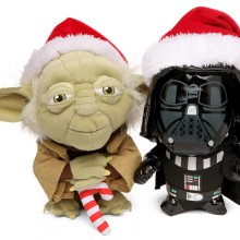 Star Wars SD Holiday Yoda and Vader Plush
