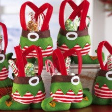 Holiday Elf Christmas Treat Bags
