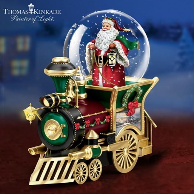To Town Musical Snowglobe Train Car