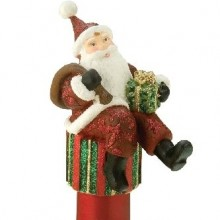 Holiday Bottle Topper Classic Santa