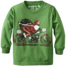 Santa Biker Crewneck Tee