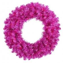 Fuchsia Christmas Wreath w/ 70 Purple Mini Lights