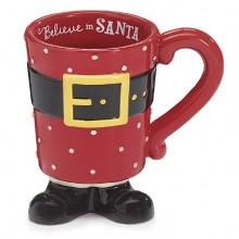 Santa Clause Footed Coffee Mug