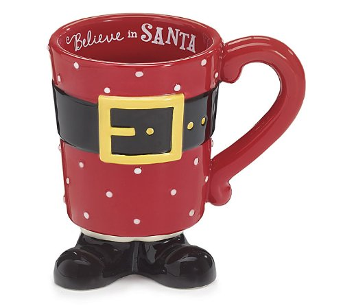 Santa Clause Footed Coffee Mug