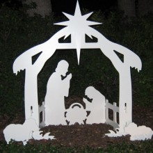 Christmas Outdoor Nativity Set