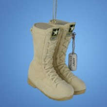 Army Flocked Boots