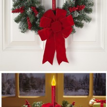 Lighted LED Candle Holiday Florals