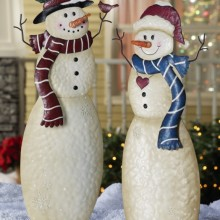 Holiday Snowmen Outdoor Garden Stakes