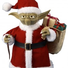 Kurt Adler Star Wars 10-Inch Yoda in Fabric Santa Outfit Tablepiece