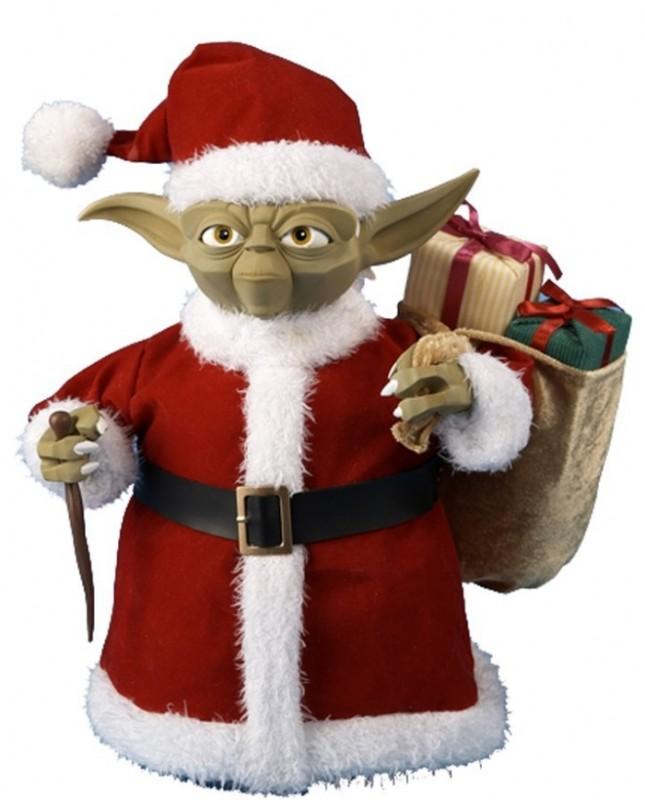 Kurt Adler Star Wars 10-Inch Yoda in Fabric Santa Outfit Tablepiece